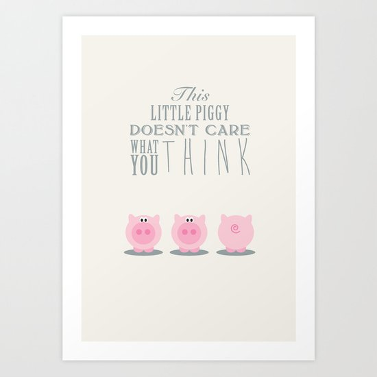 This little piggy Art Print