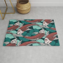 Japanese carpes decoration pattern Rug