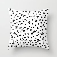 lunar Throw Pillows featuring LUNAR by K.Lewis Illustration