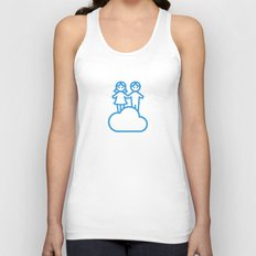 Couple in the clouds Unisex Tank Top