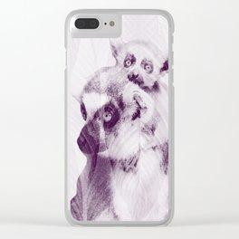 Happy Mother's Day - Lemur - maki catta Clear iPhone Case