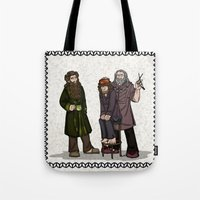 nori Tote Bags featuring Hair Care by wolfanita