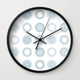 Blue Circles Wall Clock