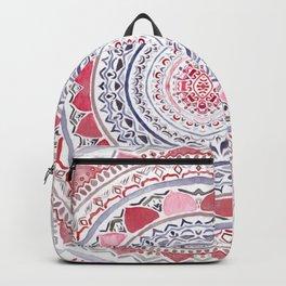 Red & Leisure Blue Mandala Backpack