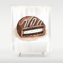 Chocolate Covered Cookie Shower Curtain