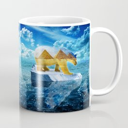 A Polar Bear Dreams of the Desert Coffee Mug