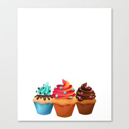 Cupcake Whisperer Bakery Chef Pastry Funny T-Shirt Canvas Print