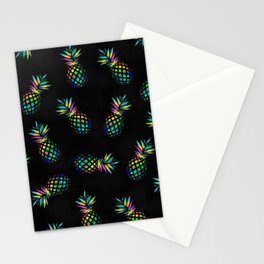 Iridescent pineapples Stationery Cards