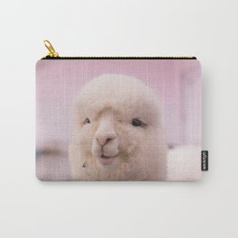 WHITE SHEEP IN CLOSE UP PHOTOGRAPHY Carry-All Pouch