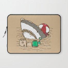 Sandy Beach Shark Laptop Sleeve