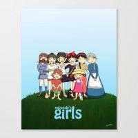 miyazaki Canvas Prints featuring Miyazaki Girl's by TubaTOPAL