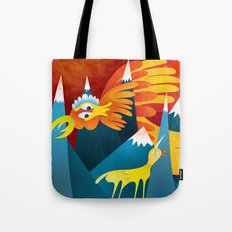 FIRE ROOSTER Tote Bag