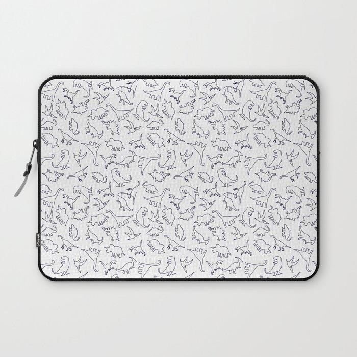 Dinosaurs Outline Pattern Laptop Sleeve