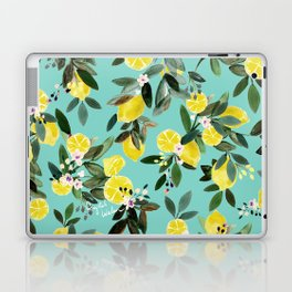 Summer Lemon Floral Laptop & iPad Skin