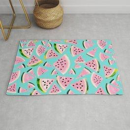 Watermelon Twist Vibes #2 #tropical #fruit #decor #art #society6 Rug