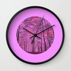 purple forest V Wall Clock