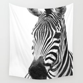 Black and white zebra illustration Wall Tapestry