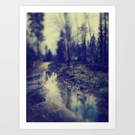In the forrest Art Print
