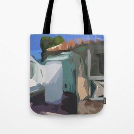 ST. Maarten Color Block House  Tote Bag
