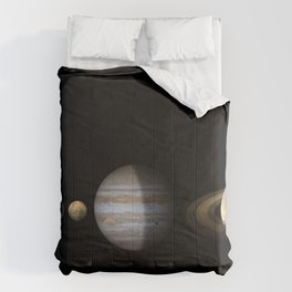 Solar System Celestial Body Planet Size Comparison Model Ultra HD Comforters