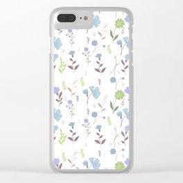 Tulum Floral 7 Clear iPhone Case