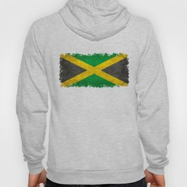 Jamaican flag, Vintage retro style Hoody
