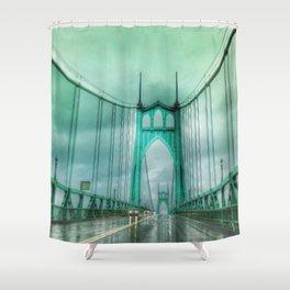 St John's Bridge Portland Oregon Shower Curtain