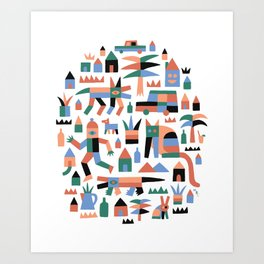 Waldport by Swirvington Art Print