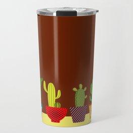 Cactus in brown Travel Mug