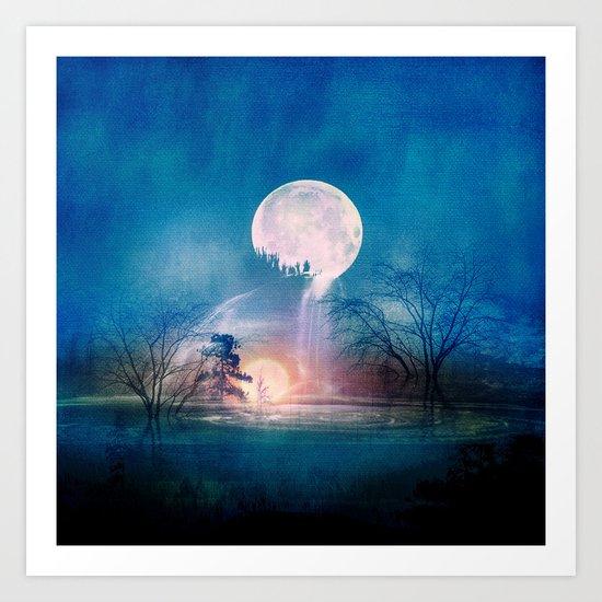 Moon Above, Sun Below Art Print