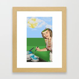 Mrs. Summer Framed Art Print