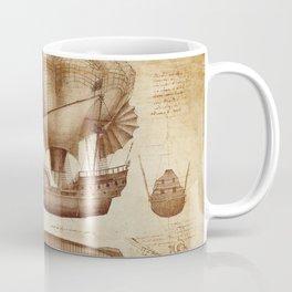 Leonardo Da Vinci's Airship Coffee Mug
