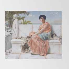 In the Days of Sappho Throw Blanket