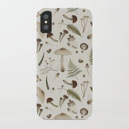 Mushroom pattern 1 white iPhone Case