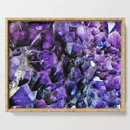 Amethyst Geode Serving Tray
