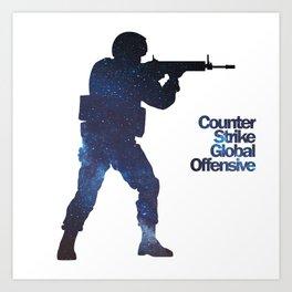 Space Army - Counter Strike Art Print