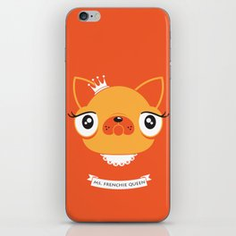 Ms. Frenchie Queen iPhone Skin