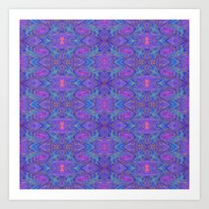 Subspace Currents Pattern Art Print