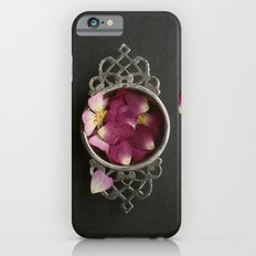 Vintage Tea Strainer and Rose Petals iPhone 6s Slim Case