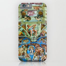 Spectacular Sistine Chapel Frescoes, Rome, Italy, 1985 iPhone Case