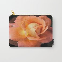 Rose With Dew Abstract Carry-All Pouch