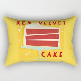 All American Classic Red Velvet Cake Rectangular Pillow