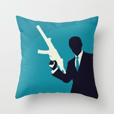 Minimalist Bond: Quantum of Solace Throw Pillow