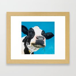 Margot the Relaxed Cow Framed Art Print