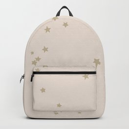 nude & gold stars Backpack