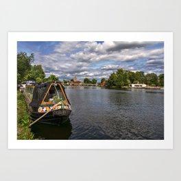 The River Thames At Marlow Art Print