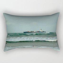 Leistering  Cargo Ship & Surfers Rectangular Pillow