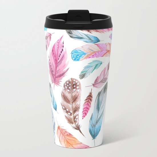 Watercolor coton Metal Travel Mug