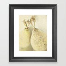 Cream decor Framed Art Print