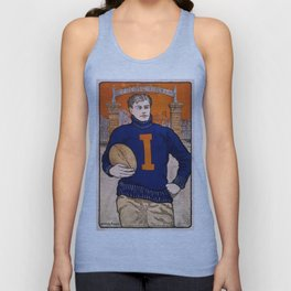 Vintage poster - Illinois Football Unisex Tank Top